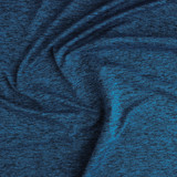 Space Dyed Athletic Knit - Ocean | Blackbird Fabrics