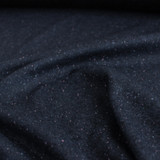 Moon Dust Double Knit - Navy with Pink Speckle - 1/2 meter