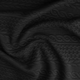 Cable Quilted Knit - Black | Blackbird Fabrics