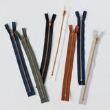 Jeans Zipper - Sand with Brass | Blackbird Fabrics