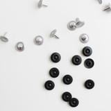 Jeans Rivets - Matte Black - Set of 10 | Blackbird Fabrics