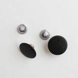 Jeans Buttons - Matte Black - Set of 2 | Blackbird Fabrics
