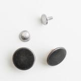 Jeans Buttons - Antique Silver - Set of 2 | Blackbird Fabrics