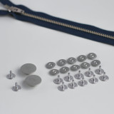 Zipper Fly Jeans Hardware Kit - Silver | Blackbird Fabrics