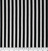 Bamboo & Cotton Striped Jersey Knit - Black/Ivory | Blackbird Fabrics