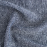 Crinkle Linen Chambray - Navy | Blackbird Fabrics