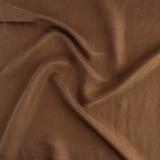 Cupro Linen & Tencel Slub - Dark Caramel | Blackbird Fabrics