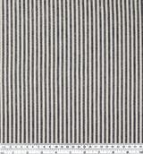Hemp & Organic Cotton Canvas Stripe - Black/Natural   Blackbird Fabrics