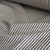 Hemp & Organic Cotton Canvas Stripe - Black/Natural | Blackbird Fabrics