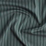 Striped Stretch Cotton Shirting - Spruce/Grey/Black | Blackbird Fabrics