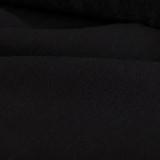 Viscose Linen Noil - Black  | Blackbird Fabrics