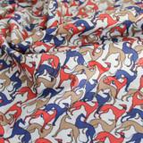 Greyhound Print Stretch Cotton Shirting - Multicolour   Blackbird Fabrics