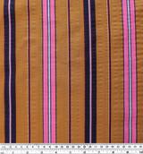 Multi-Stripe Rayon Cotton Voile - Ochre | Blackbird Fabrics