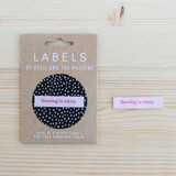 SEWING IS SEXY Woven Labels by Kylie and the Machine | Blackbird Fabrics