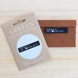 SEWING IS THE BEST Woven Labels by Kylie and the Machine | Blackbird Fabrics
