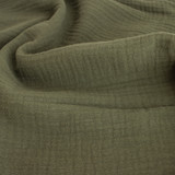 Cotton Double Gauze - Olive | Blackbird Fabrics