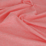 Heathered Athletic Knit - Coral - 1/2 meter