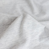 100% Organic Cotton Jersey Knit - Light Heather Grey | Blackbird Fabrics