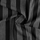 Striped Cotton & Linen - Black | Blackbird Fabrics