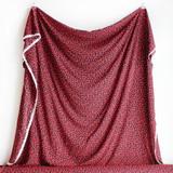 Hot Lips Print Viscose - Black/Red/Pink   Blackbird Fabrics