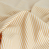 Micro Striped Bamboo & Organic Cotton Jersey Knit - Gold/White | Blackbird Fabrics