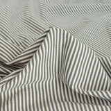 Micro Striped Bamboo & Organic Cotton Jersey Knit - Olive/White  | Blackbird Fabrics