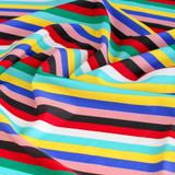 Striped Nylon Swim Tricot - Multicoloured | Blackbird Fabrics