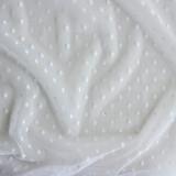 Dotted Mesh Netting - White - 1/2 meter