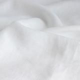 7oz Linen - White   Blackbird Fabrics