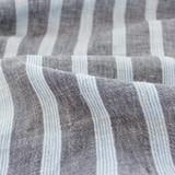 Striped Linen Gauze - Denim   Blackbird Fabrics