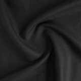6oz Linen II - Black | Blackbird Fabrics
