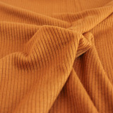 Lightweight Modal Rib Knit - Warm Ochre | Blackbird Fabrics
