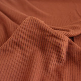 Lightweight Modal Rib Knit - Pecan | Blackbird Fabrics