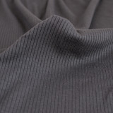 Lightweight Modal Rib Knit - Charcoal | Blackbird Fabrics