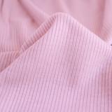 Lightweight Modal Rib Knit - Candy Floss | Blackbird Fabrics
