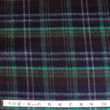 Double Faced Wool Plaid Coating - Navy/Jade - 1/2 meter