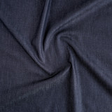 Italian Cotton Denim Shirting - Midnight Blue | Blackbird Fabrics
