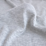 Lightweight Modal Rib Knit - Light Heathered Grey | Blackbird Fabrics