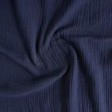 Cotton Double Gauze - Deep Indigo | Blackbird Fabrics