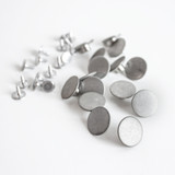 Jeans Buttons (17mm) - Silver - Set of 15 | Blackbird Fabrics