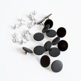 Jeans Buttons (17mm) - Matte Black - Set of 15 | Blackbird Fabrics