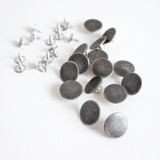 Jeans Buttons (17mm) - Antique Silver - Set of 15