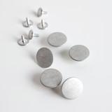 Jeans Buttons (15mm) - Silver - Set of 5 | Blackbird Fabrics