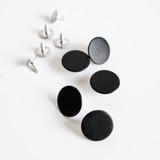 Jeans Buttons (15mm) - Matte Black - Set of 5 | Blackbird Fabrics