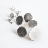 Jeans Buttons (15mm) - Antique Silver - Set of 5 | Blackbird Fabrics