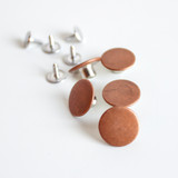 Jeans Buttons (15mm) - Copper - Set of 5 | Blackbird Fabrics