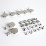 Button Fly Jeans Hardware Kit - Silver | Blackbird Fabrics