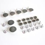 Button Fly Jeans Hardware Kit - Antique Silver | Blackbird Fabrics