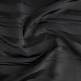 Self Stripe Viscose Linen Cotton - Black | Blackbird Fabrics