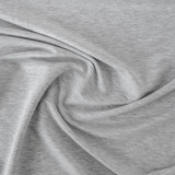 Tencel & Organic Cotton French Terry - Light Heather Grey | Blackbird Fabrics